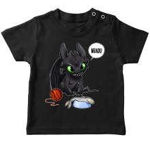 T-shirt bébé  parodique Krokmou : Après le poisson chat... Le Dragon Chat :) (Parodie )