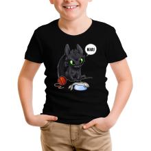 T-shirt Enfant  parodique Krokmou : Après le poisson chat... Le Dragon Chat :) (Parodie )