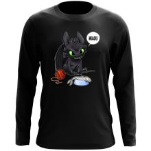 T-Shirt à manches longues  parodique Krokmou : Après le poisson chat... Le Dragon Chat :) (Parodie )