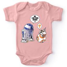 Body bébé (Filles)  parodique R2-D2 et BB-8 : BB, I am your father (VO) (Parodie )