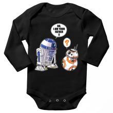 Body bébé manches longues  parodique R2-D2 et BB-8 : BB, I am your father (VO) (Parodie )