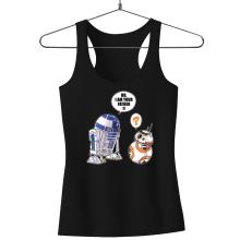 Débardeur Femme  parodique R2-D2 et BB-8 : BB, I am your father (VO) (Parodie )