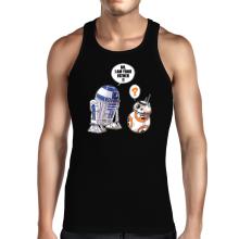 Débardeur  parodique R2-D2 et BB-8 : BB, I am your father (VO) (Parodie )