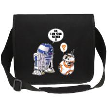 Sac bandoulière Canvas  parodique R2-D2 et BB-8 : BB, I am your father (VO) (Parodie )