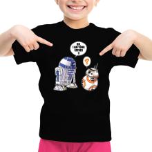 T-shirt Enfant Fille  parodique R2-D2 et BB-8 : BB, I am your father (VO) (Parodie )