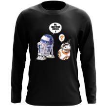 T-Shirt à manches longues  parodique R2-D2 et BB-8 : BB, I am your father (VO) (Parodie )
