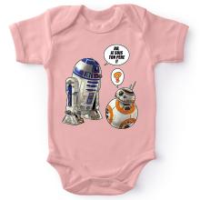 Body bébé (Filles)  parodique BB-8 et R2-D2 : BB, je suis ton père !! (Parodie )