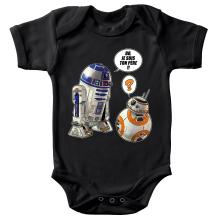 Body bébé  parodique BB-8 et R2-D2 : BB, je suis ton père !! (Parodie )