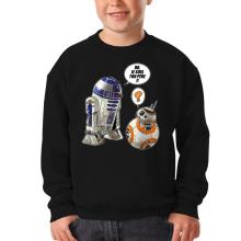 Pull Enfant  parodique BB-8 et R2-D2 : BB, je suis ton père !! (Parodie )