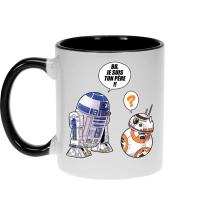 Mug  parodique BB-8 et R2-D2 : BB, je suis ton père (Super Deformed Edition) (Parodie )