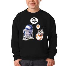 Sweat-shirts  parodique BB-8 et R2-D2 : BB, je suis ton père (Super Deformed Edition) (Parodie )
