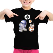 T-shirt Enfant Fille  parodique BB-8 et R2-D2 : BB, je suis ton père (Super Deformed Edition) (Parodie )