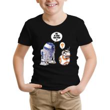 T-shirt Enfant  parodique BB-8 et R2-D2 : BB, je suis ton père (Super Deformed Edition) (Parodie )
