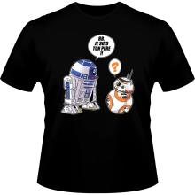 T-shirts  parodique BB-8 et R2-D2 : BB, je suis ton père (Super Deformed Edition) (Parodie )