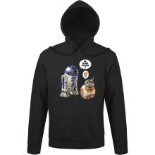 Sweat à capuche  parodique BB-8 et R2-D2 : BB, je suis ton père !! (Parodie )