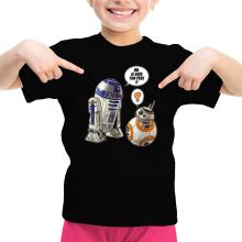 T-shirt Enfant Fille  parodique BB-8 et R2-D2 : BB, je suis ton père !! (Parodie )