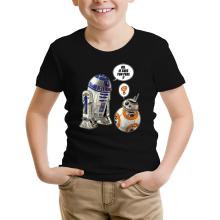 T-shirt Enfant  parodique BB-8 et R2-D2 : BB, je suis ton père !! (Parodie )