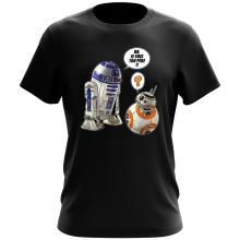 T-shirt  parodique BB-8 et R2-D2 : BB, je suis ton père !! (Parodie )