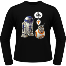 T-Shirts à manches longues  parodique BB-8 et R2-D2 : BB, je suis ton père !! (Parodie )