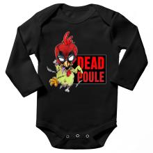 Body bébé manches longues  parodique Deadpool ou Dead Poule : Dead Poule (Parodie )