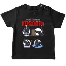 T-shirt bébé  parodique Krokmou : How to NOT train your Dragon (Parodie )