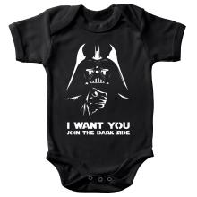 Body bébé  parodique Dark Vador se la joue Oncle Sam : I want You !! (Parodie )