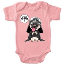 Body bébé (Filles)  parodique Dark Vadog, le Carlin se prenant pour Dark Vador : Je suis ton pépère... !! (Parodie )