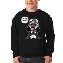 Pull Enfant  parodique Dark Vadog, le Carlin se prenant pour Dark Vador : Je suis ton pépère... !! (Parodie )