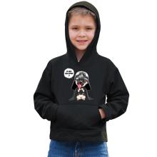 Sweat à capuche Enfant  parodique Dark Vadog, le Carlin se prenant pour Dark Vador : Je suis ton pépère... !! (Parodie )
