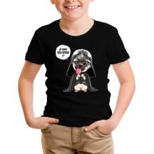 T-shirt Enfant  parodique Dark Vadog, le Carlin se prenant pour Dark Vador : Je suis ton pépère... !! (Parodie )