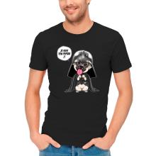 T-shirts  parodique Dark Vadog, le Carlin se prenant pour Dark Vador : Je suis ton pépère... !! (Parodie )