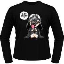 T-Shirts à manches longues  parodique Dark Vadog, le Carlin se prenant pour Dark Vador : Je suis ton pépère... !! (Parodie )
