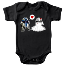Body bébé  parodique R2-D2 : Just Married... :) (Parodie )