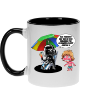 Mug  parodique Luke Skywalker, Dark Vador et le côté obscur : Le pouvoir du côté Obscur... (Parodie )