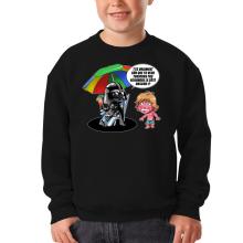 Pull Enfant  parodique Luke Skywalker, Dark Vador et le côté obscur : Le pouvoir du côté Obscur... (Parodie )