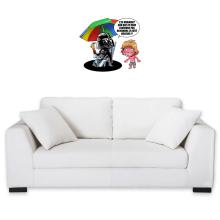 Sticker Mural  parodique Luke Skywalker, Dark Vador et le côté obscur : Le pouvoir du côté Obscur... (Parodie )