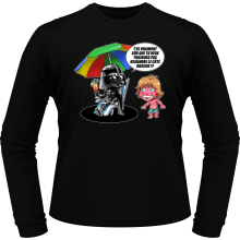T-Shirts à manches longues (French Days)  parodique Luke Skywalker, Dark Vador et le côté obscur : Le pouvoir du côté Obscur... (Parodie )