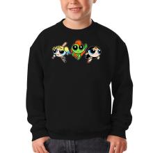 Sweat-shirts  parodique Bulle, Belle et Rebelle en mode Harley Quinn, Poison Ivy et Wonderwoman : Les Super Girls ! (Parodie )