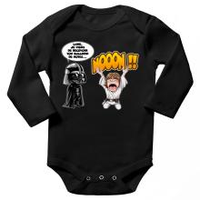 Body bébé manches longues  parodique Luke Skywalker et Dark Vador : Luke Life Episode I : Un père qui craint :) (Parodie )