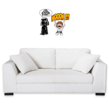 Sticker Mural  parodique Luke Skywalker et Dark Vador : Luke Life Episode I : Un père qui craint :) (Parodie )