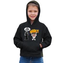 Sweat à capuche Enfant  parodique Luke Skywalker et Dark Vador : Luke Life Episode I : Un père qui craint :) (Parodie )