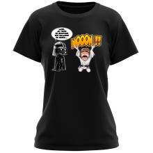 T-shirt Femme  parodique Luke Skywalker et Dark Vador : Luke Life Episode I : Un père qui craint :) (Parodie )