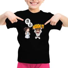 T-shirt Enfant Fille  parodique Luke et Leila Skywalker : Luke Life Episode II : Une soeur indigne :) (Parodie )