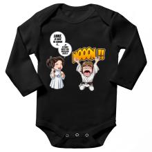Body bébé manches longues  parodique Luke et Leila Skywalker : Luke Life Episode II : Une soeur indigne :) (Parodie )