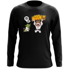 T-Shirt à manches longues  parodique Yoda et Luke Skywalker : Luke Life Episode IV : le Maître... (Parodie )