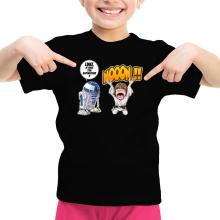 T-shirt Enfant Fille  parodique Luke Skywalker et R2-D2 : Luke Life Episode V : un robot...ménager !! (Parodie )