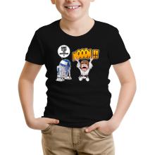 T-shirt Enfant  parodique Luke Skywalker et R2-D2 : Luke Life Episode V : un robot...ménager !! (Parodie )