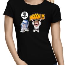 T-shirts Femmes  parodique Luke Skywalker et R2-D2 : Luke Life Episode V : un robot...ménager !! (Parodie )