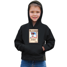 Sweat à capuche Enfant  parodique Charlie à la sauce One Piece Wanted : Mystérieux Wanted (Parodie )