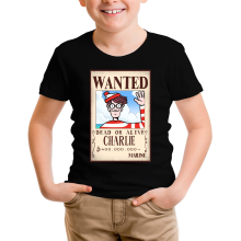 T-shirts  parodique Charlie à la sauce One Piece Wanted : Mystérieux Wanted (Parodie )